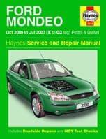 Haynes Workshop Repair Manual Ford Mondeo 00 - 03